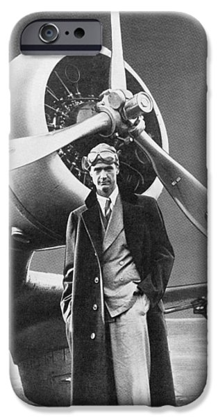 Aviator iPhone Cases - Howard Hughes, Us Aviation Pioneer iPhone Case by Science, Industry & Business Librarynew York Public Library