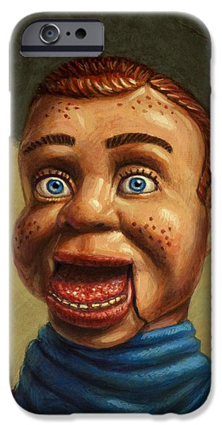 Toy iPhone Cases - Howdy Doody dodged a bullet iPhone Case by James W Johnson