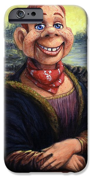 Puppets iPhone Cases - Howdy DooVinci iPhone Case by James W Johnson
