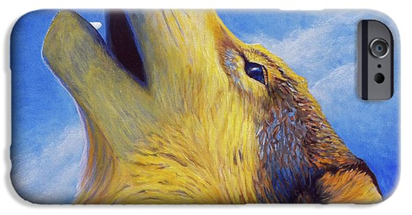 Coyote iPhone Cases - Howl iPhone Case by Brian  Commerford