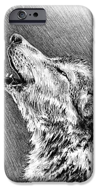 Dogs iPhone Cases - Howling Wolf iPhone Case by Andrew Read