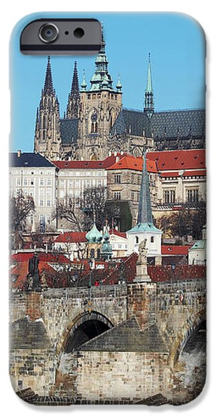 Hradcany - cathedral of St Vitus and Charles bridge iPhone Case by Michal Boubin