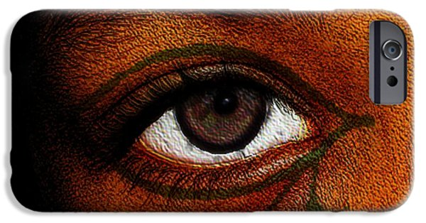 Horus Digital Art iPhone Cases - Hrus Eye iPhone Case by Iowan Stone-Flowers