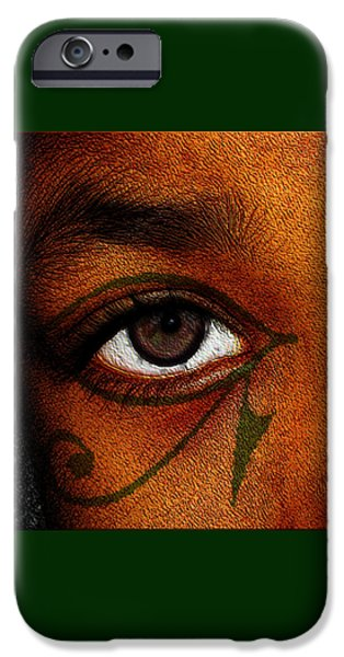 Horus iPhone Cases - Hrus Eye iPhone Case by Iowan Stone-Flowers