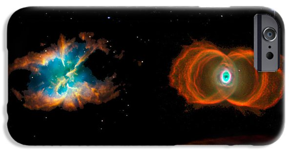 Spectrum Mixed Media iPhone Cases - Hubble Greatest Hits iPhone Case by Tony Rubino