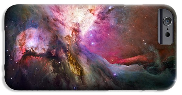 Cosmic iPhone Cases - Hubbles sharpest view of the Orion Nebula iPhone Case by Adam Romanowicz