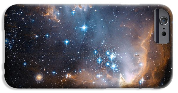Recently Sold -  - Stellar iPhone Cases - Hubbles View Of N90 Star-Forming Region iPhone Case by Eric Glaser