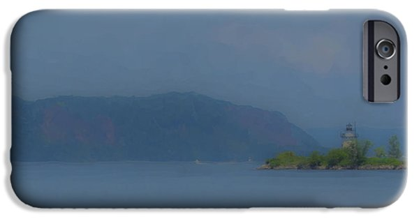 Mcentee Paintings iPhone Cases - Hudson River at Sleepy Hollow NY iPhone Case by Bill McEntee