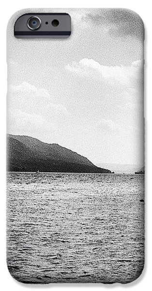 Hudson River iPhone Cases - Hudson River Black and White iPhone Case by Victory  Designs