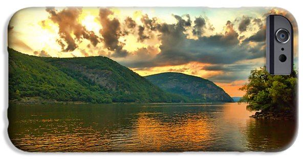 Hudson River iPhone Cases - Hudson Valley Mountains iPhone Case by April Ann Canada Photography