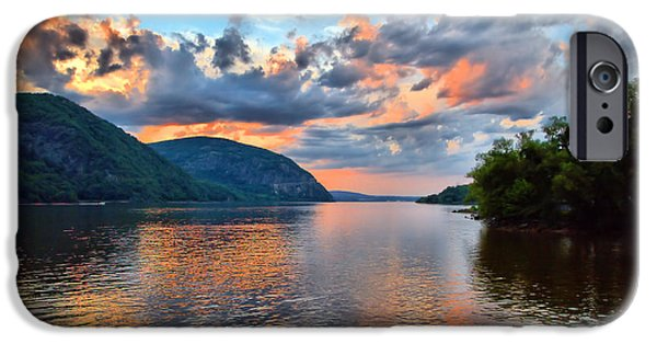 Hudson River iPhone Cases - Hudson Valley Sunset  iPhone Case by April Ann Canada Photography