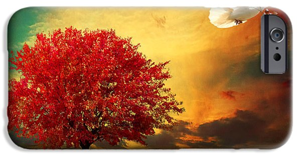 Trees At Sunset iPhone Cases - Hued iPhone Case by Lourry Legarde