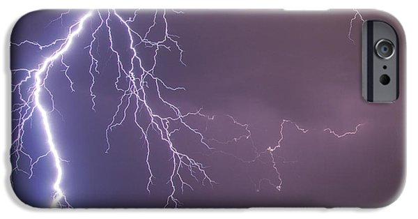 Electrical iPhone Cases - Huge lightning bolt iPhone Case by Sandra Rugina