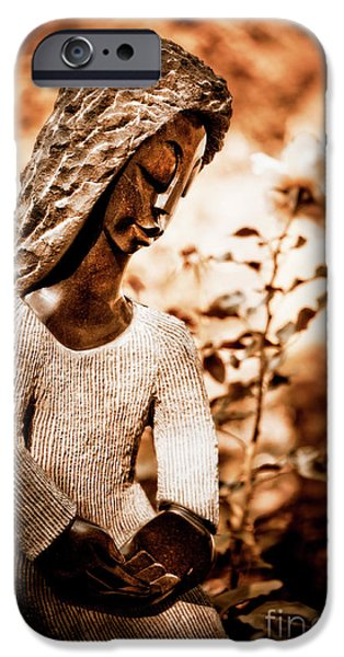Botanical Figures iPhone Cases - Humble Woman iPhone Case by Venetta Archer