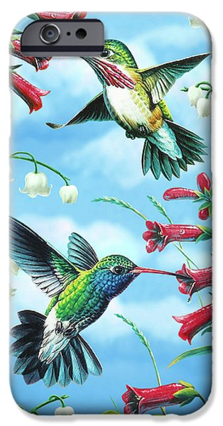 Plant iPhone Cases - Humming Birds iPhone Case by JQ Licensing