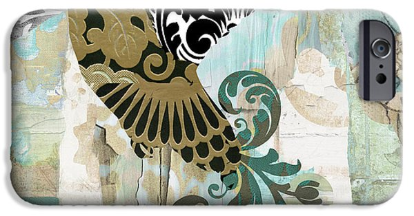 Flying Birds iPhone Cases - Hummingbird Batik iPhone Case by Mindy Sommers