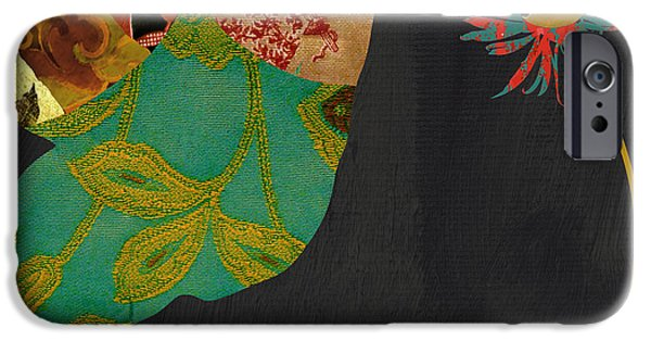 Hummingbird iPhone Cases - Hummingbird Brocade IV iPhone Case by Mindy Sommers