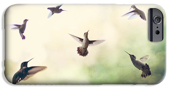 Print Photographs iPhone Cases - Hummingbird Dance iPhone Case by Amy Tyler