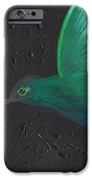 Hummingbird Feeding iPhone Case by Jose Valeriano