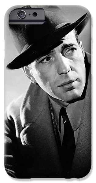 Big Screen iPhone Cases - Humphrey Bogart iPhone Case by Mountain Dreams