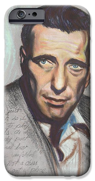 Humphrey Bogart  Not a chess piece was out of place iPhone Case by Kean Butterfield