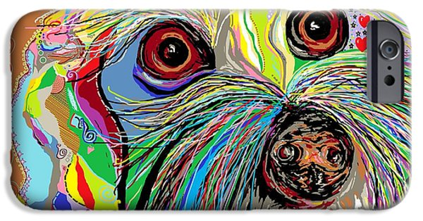 Maltese Puppy iPhone Cases - Hunter . . . Hes a Shoe Man iPhone Case by Eloise Schneider