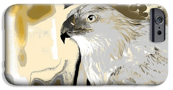 Hawk Art Giclee iPhone Cases - Hunting For Lizards iPhone Case by Sharon K Shubert