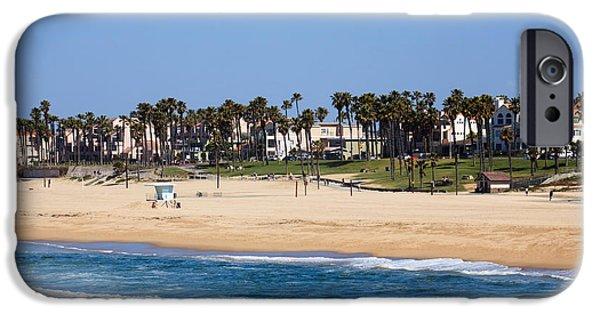 Orange County Photographs iPhone Cases - Huntington Beach California iPhone Case by Paul Velgos