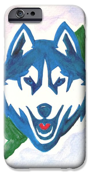 Huskies Mixed Media iPhone Cases - Husky Nation iPhone Case by DJ Fessenden