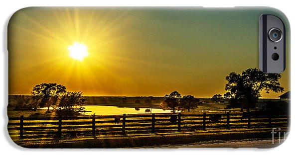 Farm Tapestries - Textiles iPhone Cases - Hwy 53 Sunset iPhone Case by James Hennis