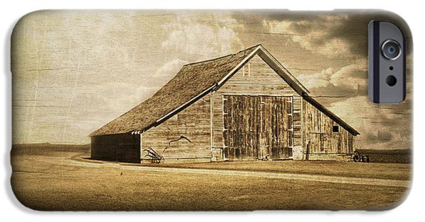 Barn Swallow iPhone Cases - Hwy 9 Barn iPhone Case by Julie Hamilton