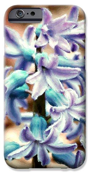 Hyacinth Photo Manipulation  iPhone Case by David Lane