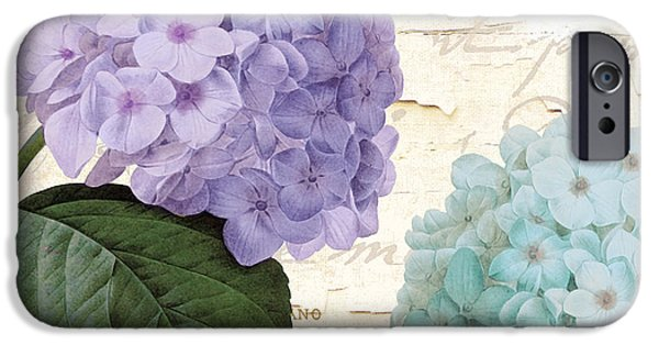 Purple Hydrangea iPhone Cases - Hydrangea Hortensia iPhone Case by Mindy Sommers