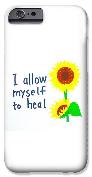 Buddhist iPhone Cases - I allow myself to heal iPhone Case by Tiny Affirmations