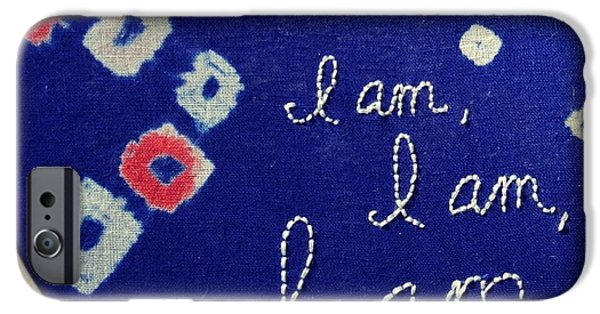 Buddhist iPhone Cases - I am, I am, I am iPhone Case by Tiny Affirmations