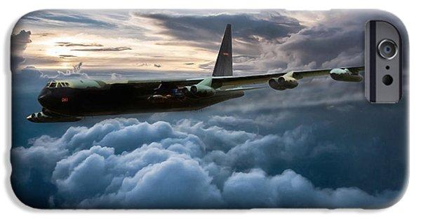Lightning Digital Art iPhone Cases - I Am Legend B-52 V2 iPhone Case by Peter Chilelli