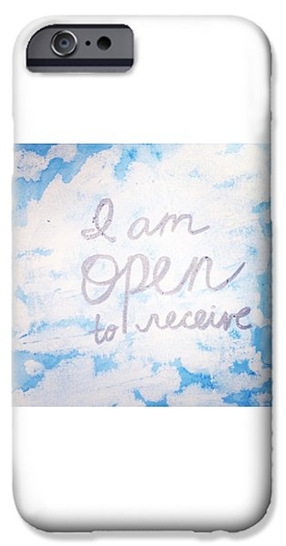 Buddhist iPhone Cases - I am open to receive iPhone Case by Tiny Affirmations