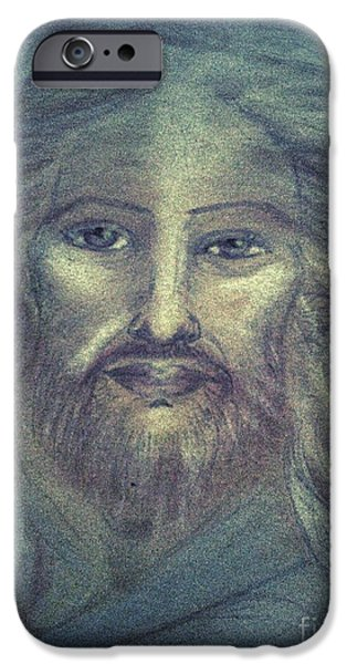 Son Of God Pastels iPhone Cases - I AM the Open Door iPhone Case by Jennifer Kamadon