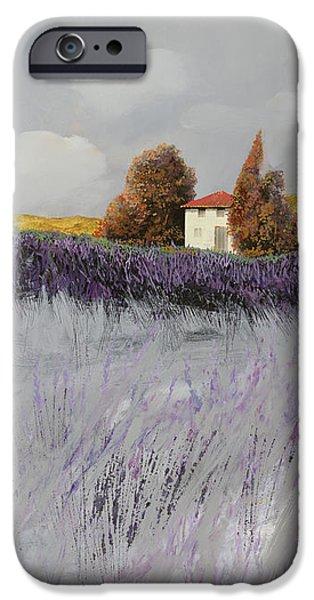 i campi di lavanda iPhone Case by Guido Borelli