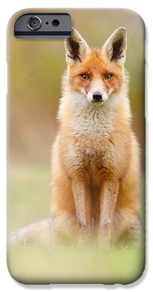 Character Portraits Photographs iPhone Cases - I Cant Stand the Rain iPhone Case by Roeselien Raimond