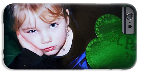 Little Girl iPhone Cases - I Didnt Sign Up For This iPhone Case by Wendy Martinez