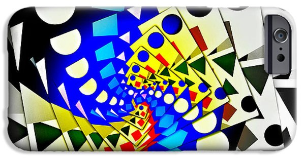 Abstract Digital Art iPhone Cases - I Fell Way Too Deep iPhone Case by Aurelio Zucco