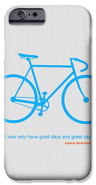 Vintage Bicycle iPhone Cases - I Have Only Good Days And Great Days iPhone Case by Naxart Studio