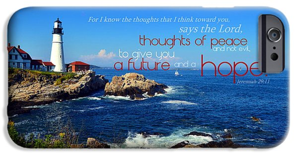 Maine iPhone Cases - I Know the Thoughts iPhone Case by Kim Blaylock