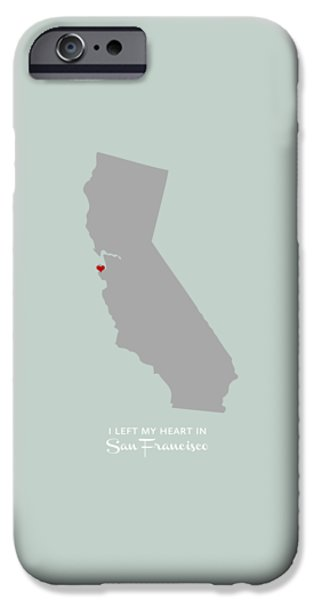 Bay Area Digital iPhone Cases - I left my heart in SF iPhone Case by Nancy Ingersoll