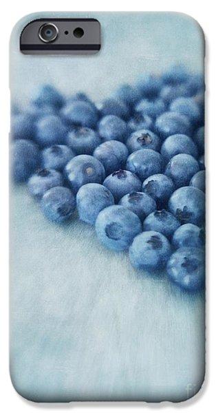 I love blueberries iPhone Case by Priska Wettstein