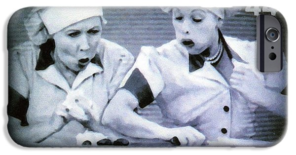 Recently Sold -  - Cut-outs iPhone Cases - I Love Lucy iPhone Case by Lanjee Chee