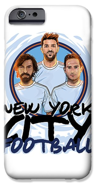 David iPhone Cases - I Love New York iPhone Case by Akyanyme