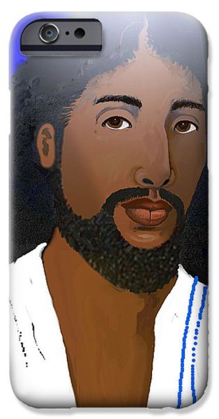Jesus Drawings iPhone Cases - I Love Pictures of Jesus iPhone Case by Mya Love