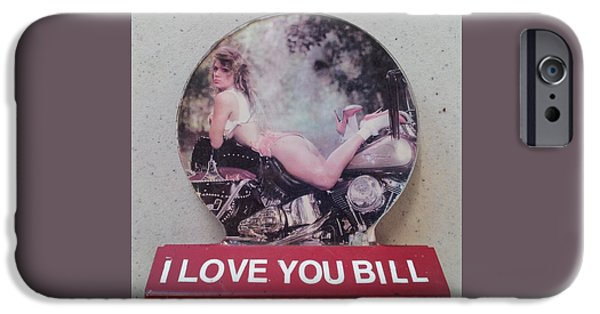 Love Sculptures iPhone Cases - I love you Bill 7 iPhone Case by William Douglas